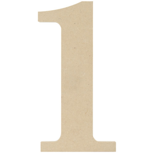 """MDF Classic Font Wood Letters & Numbers 9.5""""-1"""