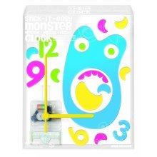 4m2u Monster Clock 4 Designs Assorted - Stick It Easy Childrens Activity Fun -  STICK IT EASY CLOCK MONSTER CHILDRENS ACTIVITY FUN TIME