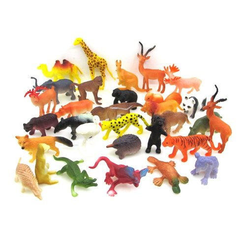 SHAWE Figures Mini Animal | 53 Pack Mini Vinyl Plastic Animal Toy Set,Toys Realistic Under The Sea Life Figure Bath Toy for Child Educational Party...