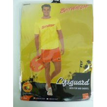 Medium Mens Casual Baywatch Costume - Fancy Dress Beach Lifeguard 90s Licensed -  baywatch mens costume fancy dress beach lifeguard 90s licensed
