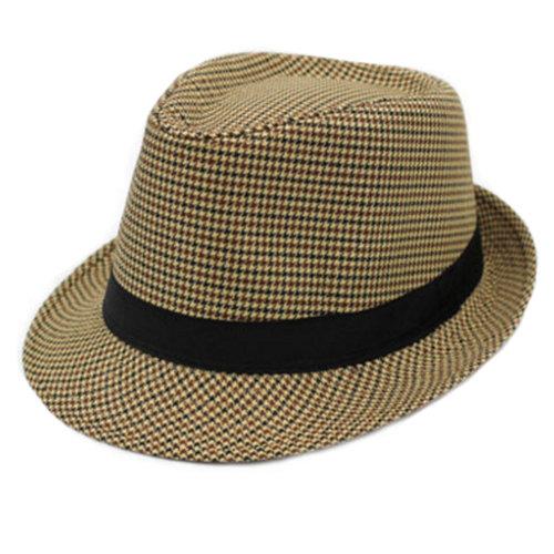 Fashion Classic Fedora Hat Straw Hat Unisex Hats Caps, Yellow