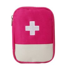 Portable First AID Pouch Pill Bags Medicine Storage Container Pill Case Rose