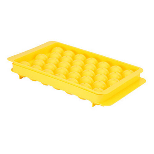 Set Of 2 Creative Ball Shape Ice Cube Tray For Home/Bar, Yellow