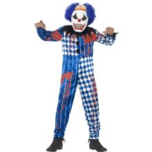 Kids Deluxe Sinister Clown Costume | Halloween