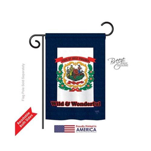 Breeze Decor 58115 States West Virginia 2-Sided Impression Garden Flag - 13 x 18.5 in.