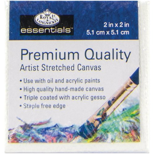 "Essentials(Tm) Premium Stretched Canvas-2""X2"""