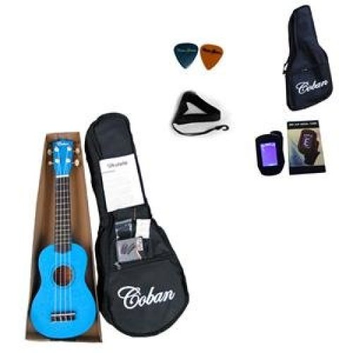 Coban Light Blue Ukulele Complete package reduced price cause slight paint marks