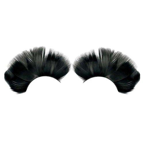 3 Pairs Feather False Eyelashes Party False Eyelashes Art Eyelashes,Black