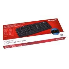 Microsoft Wired Keyboard 500 PS/2 Black UK Layout PC ZG6-00010 Hot Keys
