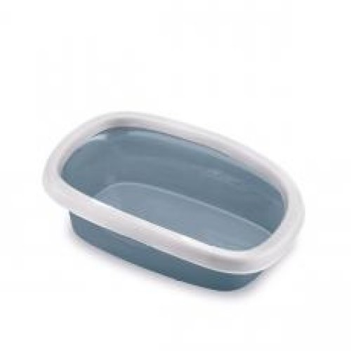 Sprint 20 Litter Tray With Rim White/steel Blue 39x58x17cm
