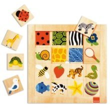 Goula Textures Wooden Jigsaw Puzzle (16 Pieces)