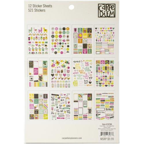 Carpe Diem A5 Planner Sticker Tablet-Oh, Happy Day!, 521/Pkg