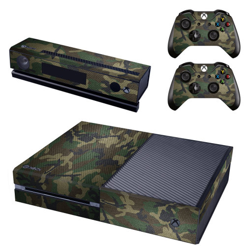 Army Camo Xbox One Console SKIN + 2 x Controller Stickers Decal FacePlate - Pad