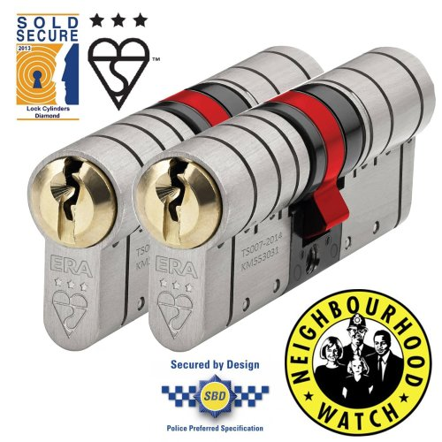 ERA Fortress 3 Star Euro Cylinder - Keyed Alike Pairs
