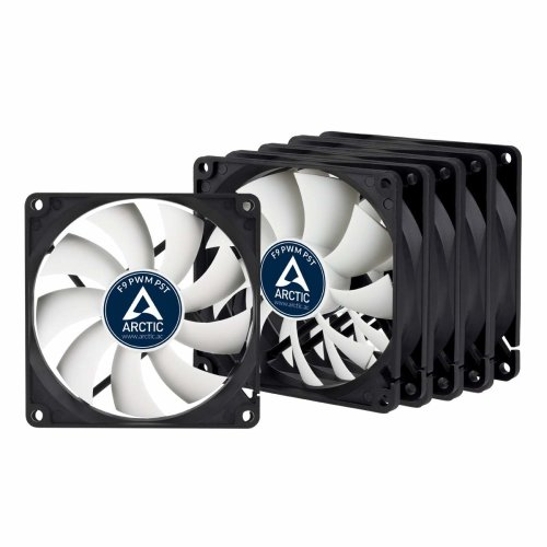 ARCTIC F9 PWM PST - 92 mm PWM PST Case Fan - Five Pack | Silent Cooler with Standard Case | PST-Port (PWM Sharing Technology) | Regulates RPM in sync