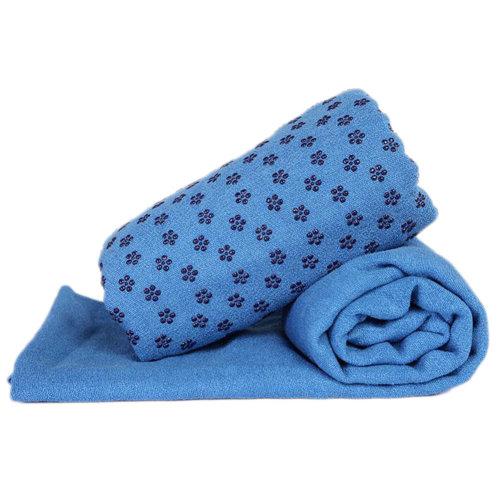 Indoor Sport Non-slip Yoga Sheet Blanket Yoga Towel Yoga Accessory 183 CM * 63 CM-Blue
