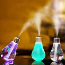 USB Ultrasonic Humidifier Home Office Mini Aromatherapy Colorful LED Night Light Bulb Bottle