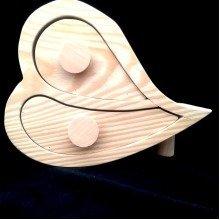 Two Drawer Pine Wood Trinket Box