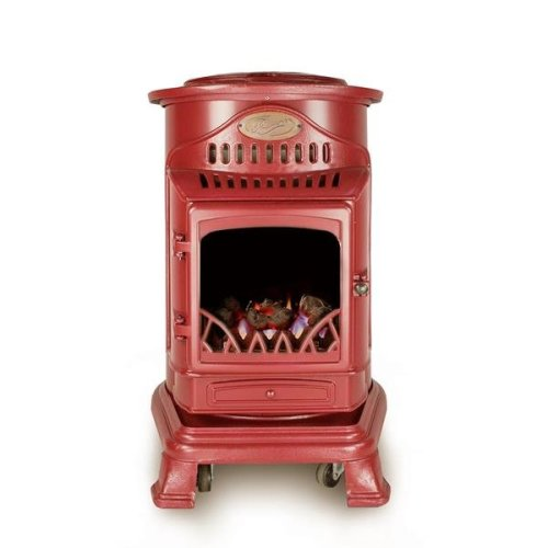 Calor Gas Provence 3kw Red Portable Living Flame Heater