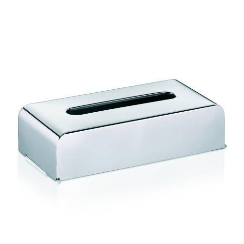 "kela ""Faber Facial Tissue Box, Stainless-Steel, Silver"