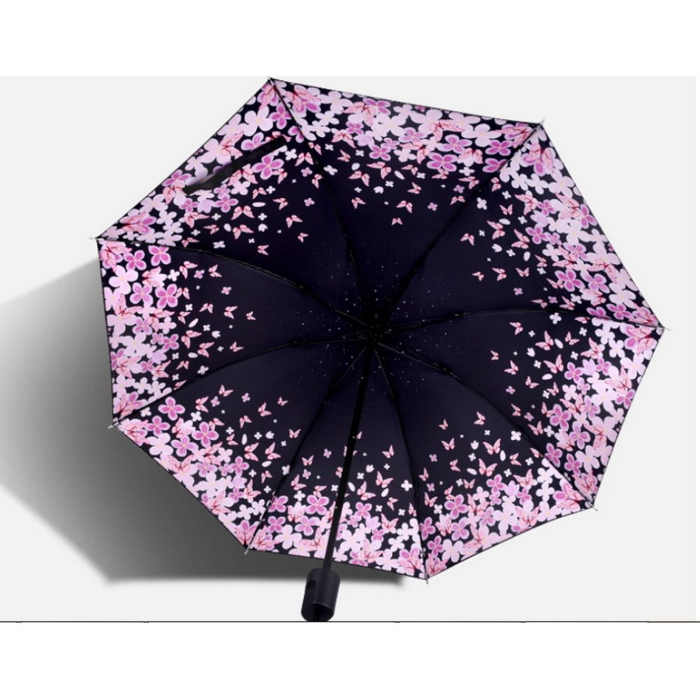 13b1c2c0d89c Portable Folding Umbrella Sun Protection Umbrella, Cherry Blossom E
