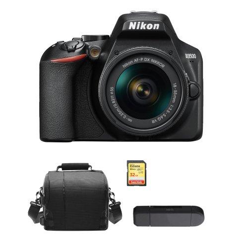 NIKON D3500 KIT AF-P 18-55mm F3.5-5.6G VR+32GB SD card+Bag+Card Reader