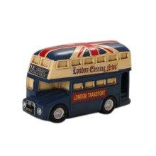 Creative Vintage Cartton Blue Bus Piggy Bank/Coins Tank