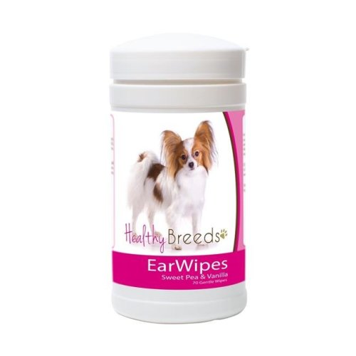 Healthy Breeds 840235150664 Papillon Ear Wipes