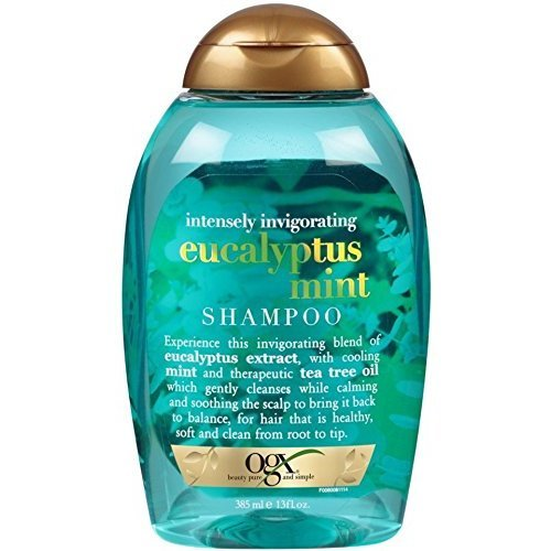 OGX Shampoo, Invigorating Eucalyptus Mint 13 oz (Pack of 4)