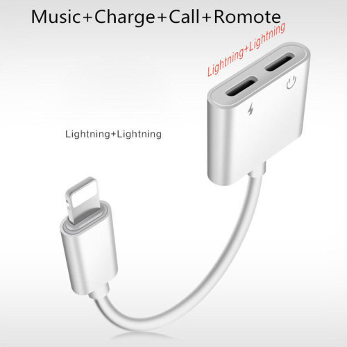 Lightning Headphone Jack Adapter two ports for iPhone X 7 8 Plus