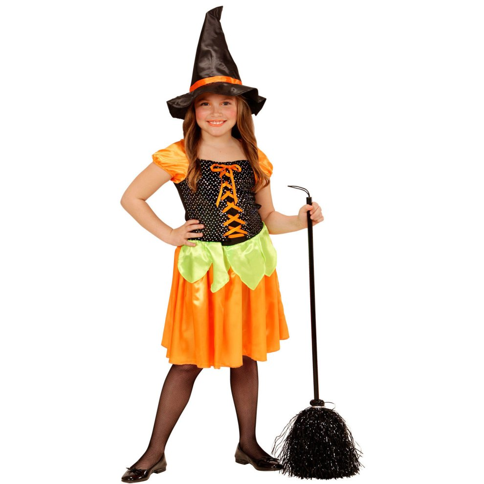 Diy Halloween Costumes For Girls Age 11 13.11 13 Years Girls Holographic Sequin Pumpkin Witch Costume