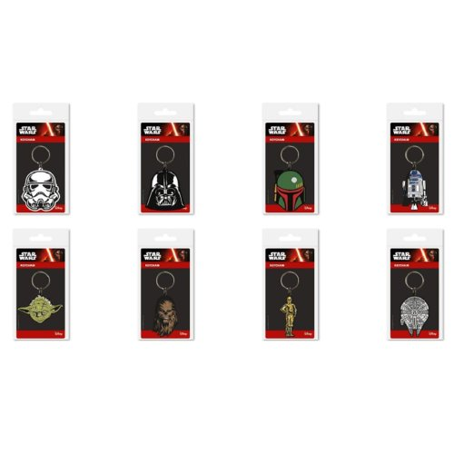 Set of 8 x STAR WARS Key Rings KeyChains Perfect Party Bag Fillers
