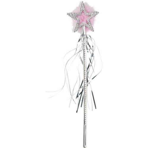 Smiffy's Star Wand Silver Marabou And Tinsel - Fancy Dress Accessory Fairy -  wand star fancy dress accessory fairy smiffys costume