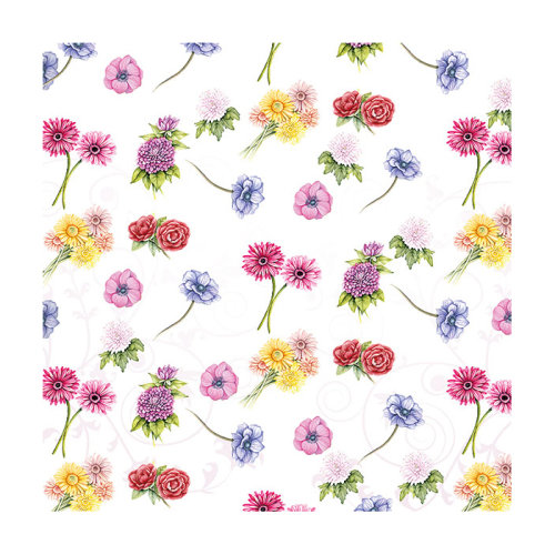 Ambiente 3 Ply Paper Lunch Napkins, Flower Festival