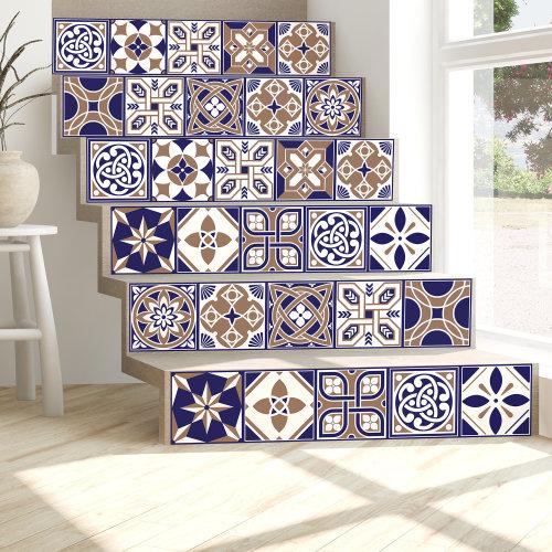 Walplus Tile Royal Wall Sticker Decal (Size: 15m x 15cm @ 24pcs)