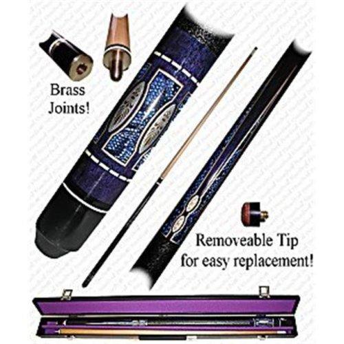 "Poker 40-625PUR 58"" Matrix Designer Pool Stick - Purple"