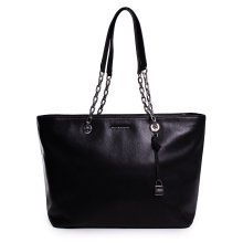 Michael Kors Mercer Medium Chain-link Leather Tote - Black - 30H6SM9T9L-001