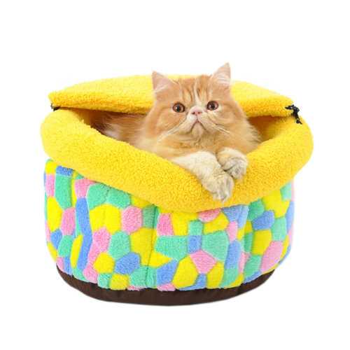 Skin Soft and Warm Pet House Dog Cat Pet Bed Puppy sofa, Sugar Bowl 37*37*25CM