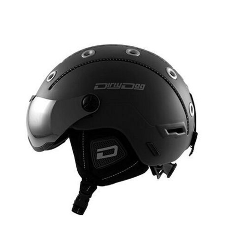 Dirty Dog Commanche Helmet - Matt Black -Medium