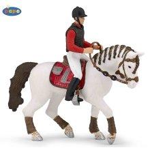 Papo Trendy Rider's Horse - Farmyard Animal Figure Model Detailed Plastic Toy - Trendy Rider's Horse Farmyard Animal Figure Model Detailed Plastic