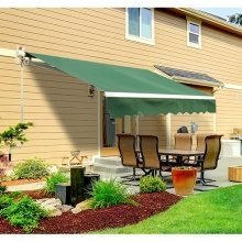 Outsunny 3.5m X 2.5m Garden Awning with Winding Handle