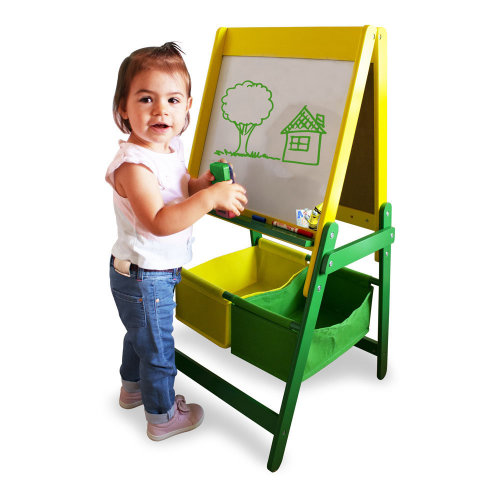 Crayola Double Sided Childrens Wooden Art Easel With Creative Accessories Set Ccra031