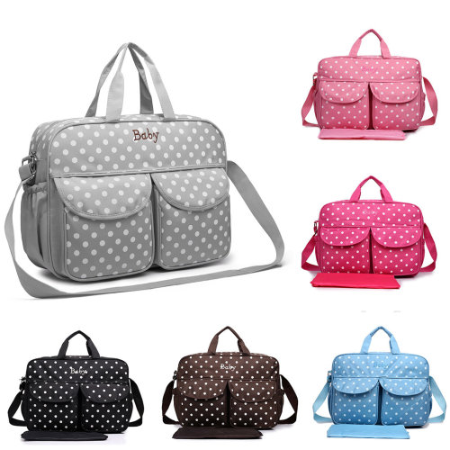 Miss Lulu Canvas Maternity Polka Dot Baby Diaper Nappy Changing Bag