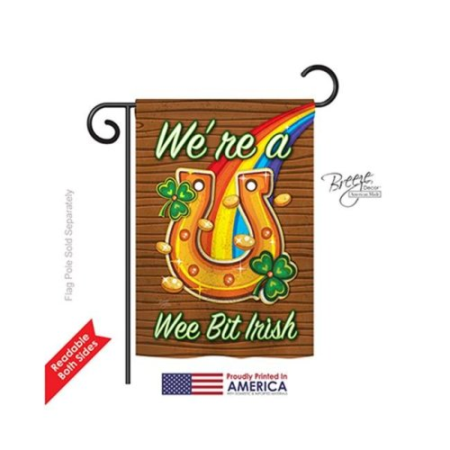 Breeze Decor 52002 St Pats We re a Wee Bit Irish 2-Sided Impression Garden Flag - 13 x 18.5 in.