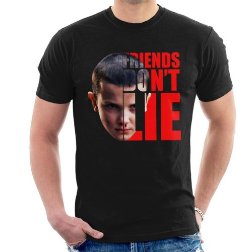 Stranger Things Eleven Half Head Text Men's T-Shirt