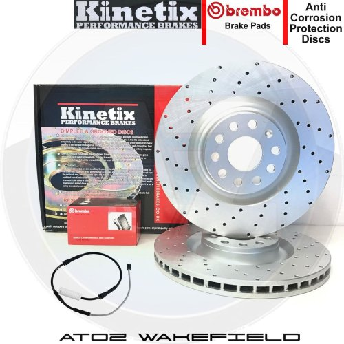 FOR BMW E90 E91 E92 318i FRONT DRILLED BRAKE DISCS BREMBO PADS SET 300mm