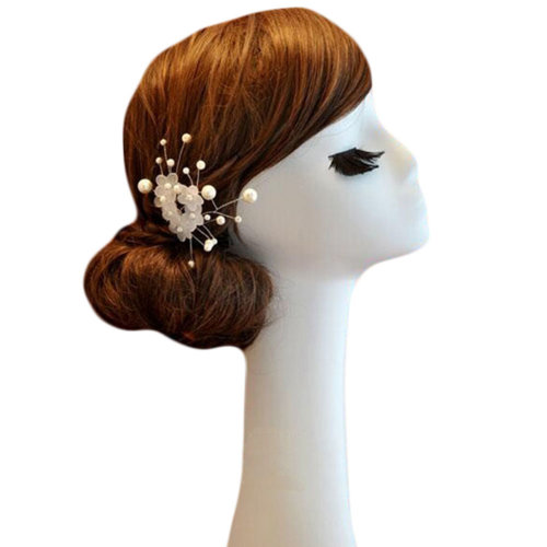 Hand Made-Elegant Wedding Exquisite Beads Floret Hair Combs Accessory