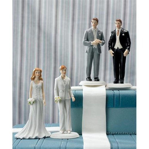 Weddingstar 8456 Fashionable Bride in Elegant Pants Suit Mix & Match Cake Topper- Bride Only