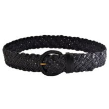 Women Fashion Wave Belt Dress Decorative Belt [BLACK]