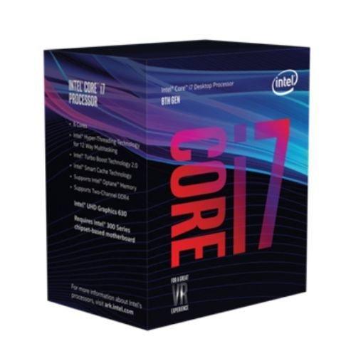 Intel Core I7-8700K CPU, 1151, 3.7 GHz (4.7 Turbo), 6-Core, 95W, 14nm, 12MB, Overclockable, Coffee Lake, NO HEATSINK/FAN